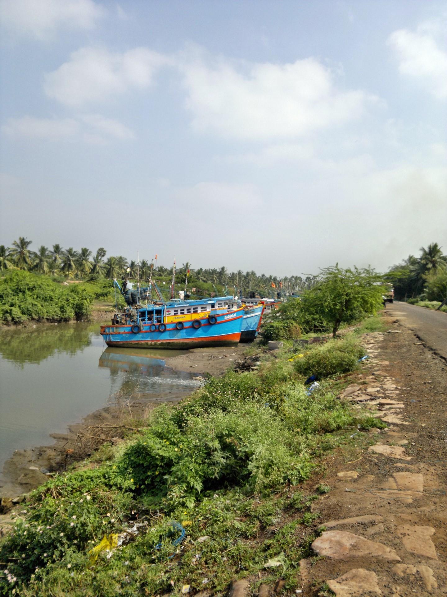 Fischerboote Indien Godavari
