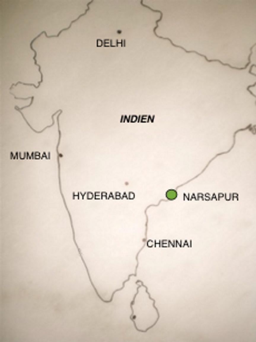 Indienkarte Narsapur